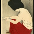 """A very rare edition of Ito Shinsui's famous """"After the bath"""" print has come up for auction at Floating World Auctions. According to them this print is actually from Shinsui's […]"""
